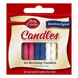 Betty Crocker Rainbow Spiral Birthday Candles, 24 ea (Pack of 12)