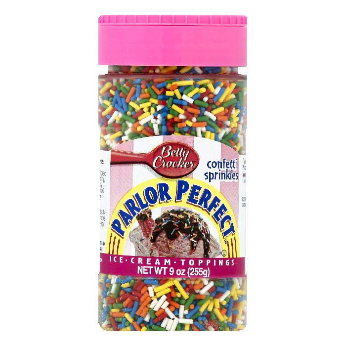Betty Crocker Confetti Sprinkles Ice Cream Toppings, 9 OZ (Pack of 6)