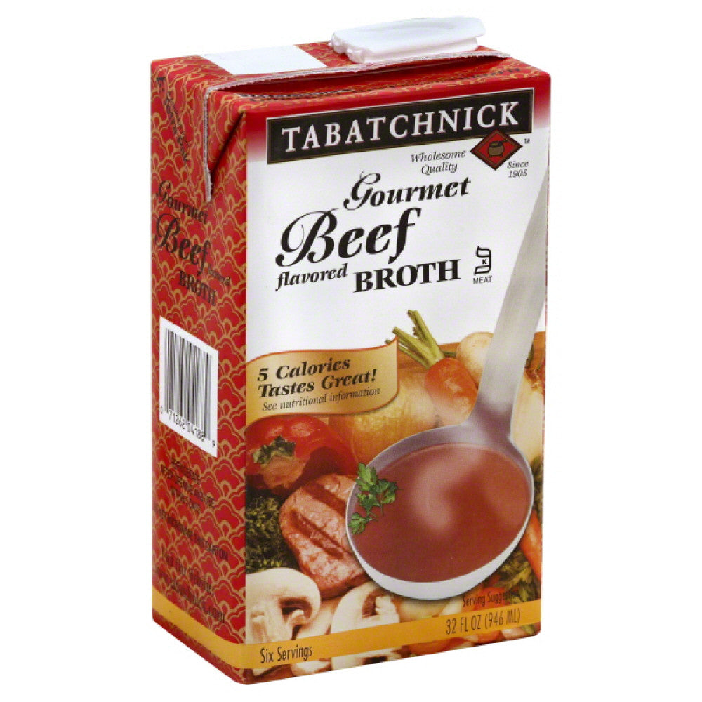 Tabatchnick Gourmet Beef Flavored Broth, 32 Oz (Pack of 12)