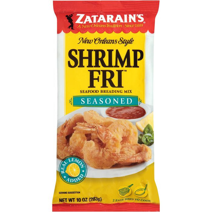 Zatarain's Shrimp-Fri Seasoned Seafood Breading Mix 10 Oz Bag (Pack of 12)