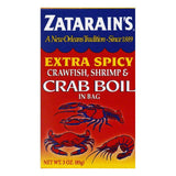 Zatarains Extra Spicey in Bag Crawfish Shrimp & Crab Boil, 3 Oz (Pack of 12)