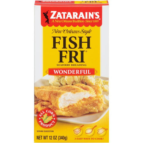 Zatarain's Fish-Fri Wonderful Seafood Breading 12 Oz  (Pack of 12)