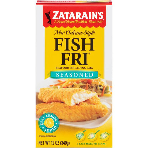 Zatarain's Fish-Fri Seasoned Seafood Breading Mix 12 Oz  (Pack of 12)