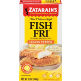 Zatarain's Fish-Fri Lemon Pepper Seafood Breading Mix 12 Oz  (Pack of 12)