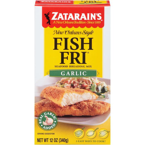 Zatarain's Fish-Fri Garlic Seafood Breading Mix 12 Oz  (Pack of 12)