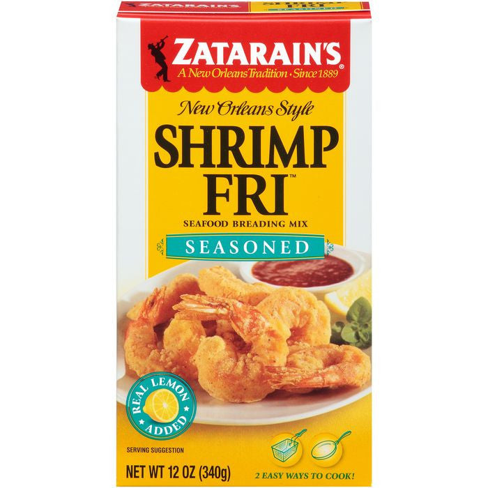 Zatarain's Shrimp-Fri Seasoned Seafood Breading Mix 12 Oz  (Pack of 12)