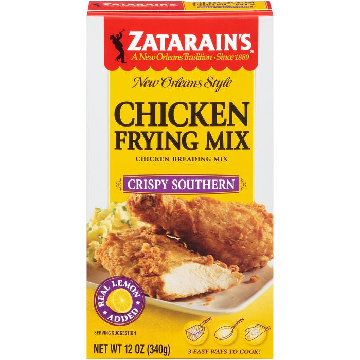 Zatarain's Crispy Southern Chicken Frying Mix 12 Oz  (Pack of 12)