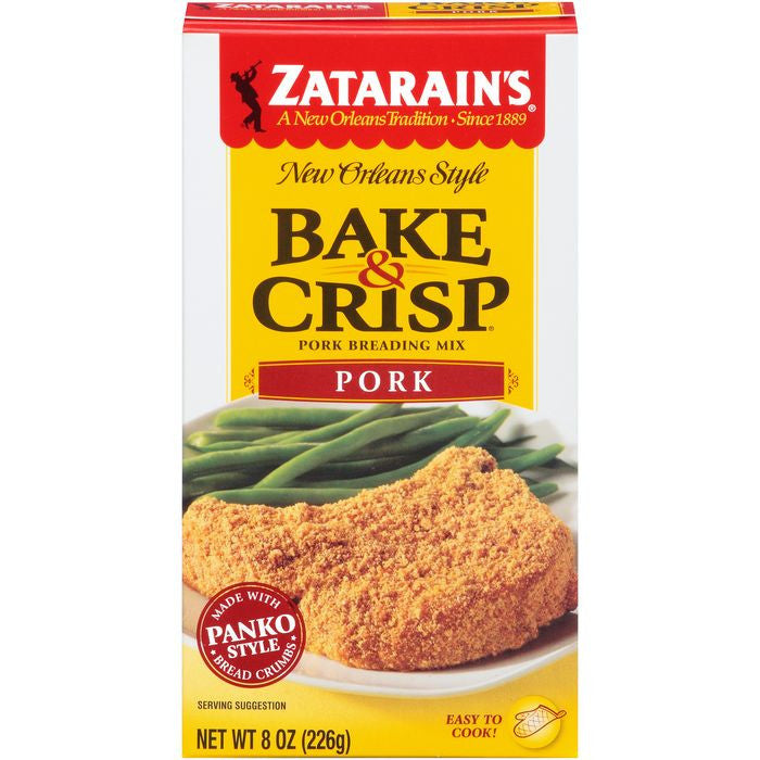 Zatarain's Bake & Crisp Pork Breading Mix 8 Oz  (Pack of 12)