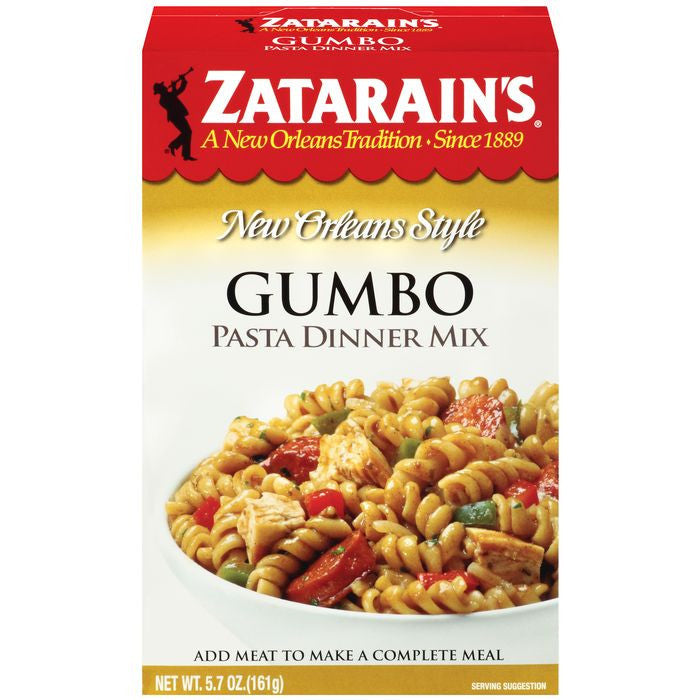 Zatarain's Gumbo Pasta Dinner Mix 5.7 Oz  (Pack of 8)