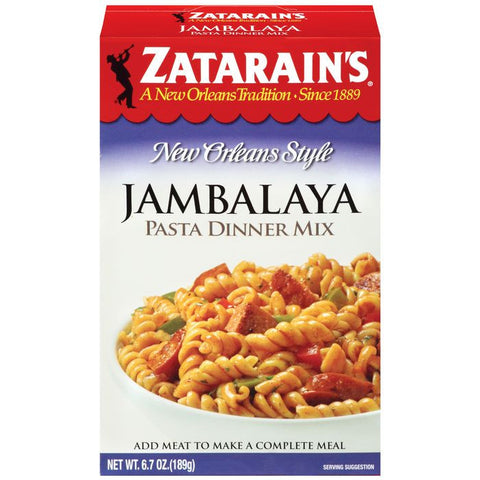 Zatarain's Jambalaya Pasta Dinner Mix 6.7 Oz  (Pack of 8)