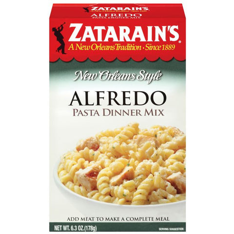 Zatarain's Alfredo Pasta Dinner Mix 6.3 Oz  (Pack of 8)