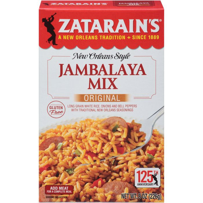Zatarain's Original Jambalaya Mix 8 Oz  (Pack of 12)