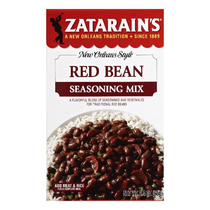 Zatarains Red Bean Seasoning Mix, 2.4 OZ (Pack of 12)