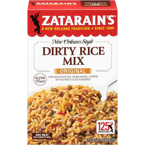 Zatarain's Original Dirty Rice Mix 8 Oz  (Pack of 12)