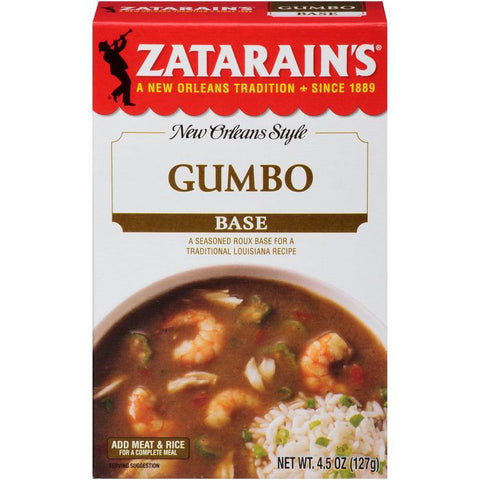 Zatarain's Gumbo Base 4.5 Oz  (Pack of 12)