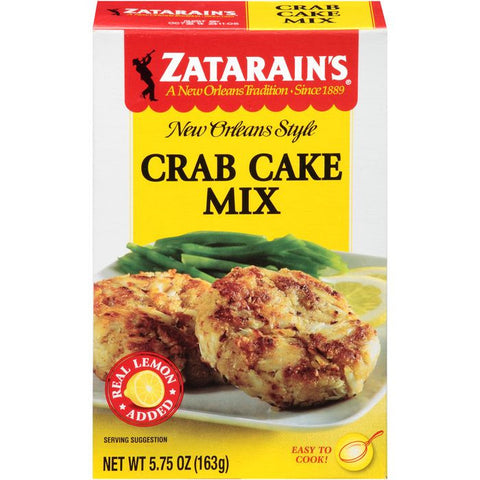 Zatarain's Crab Cake Mix 5.75 Oz  (Pack of 12)