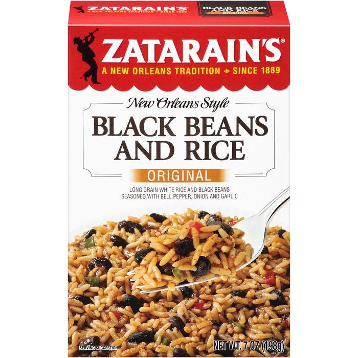 Zatarain's Original Black Beans and Rice Mix 7 Oz  (Pack of 12)