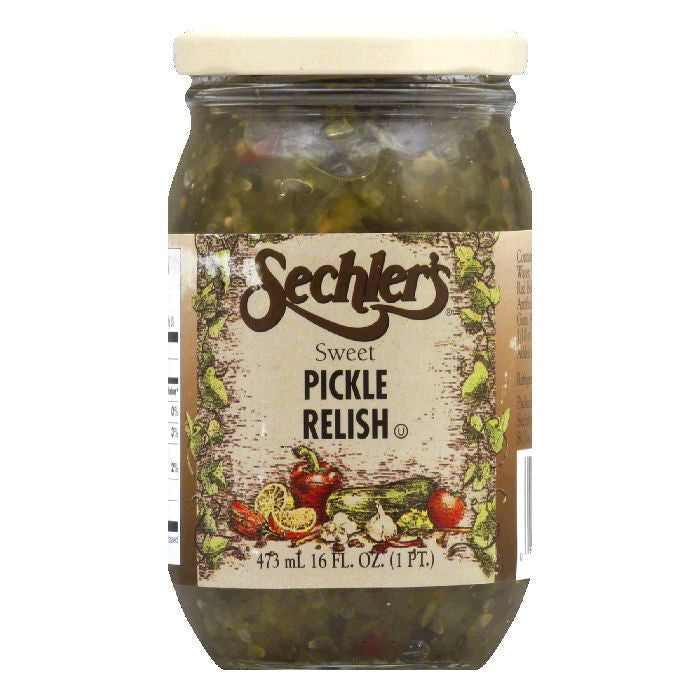Sechler's Sweet Pickle Relish, 16 OZ (Pack of 6)