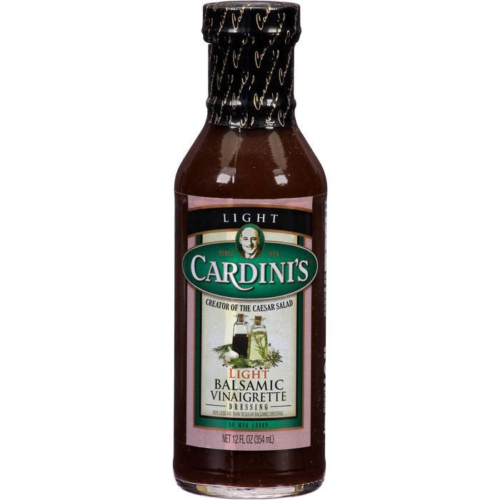 Cardini's Light Balsamic Vinaigrette Dressing 12 fl. Oz   (Pack of 6)