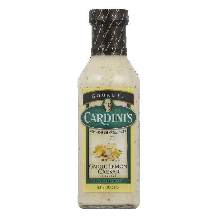 Cardini Garlic Lemon Caesar Dressing, 12 OZ (Pack of 6)