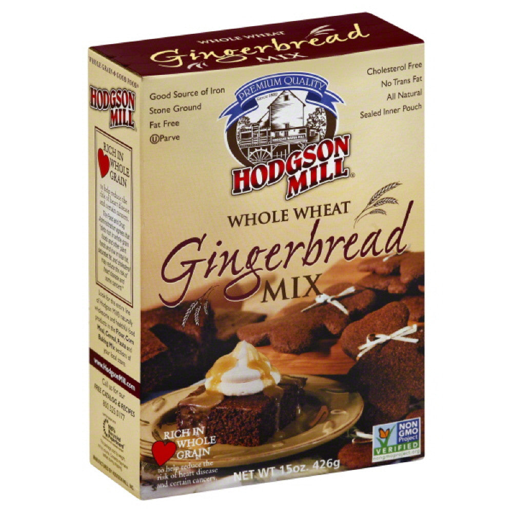 Hodgson Mill Gingerbread Mix Whole Wheat, 15 Oz (Pack of 6)