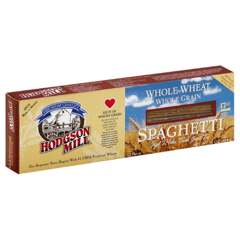 Hodgson Mill Whole Grain Whole Wheat Spaghetti, 16 Oz (Pack of 12)