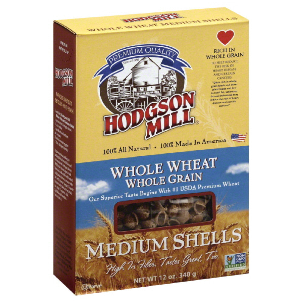 Hodgson Mill Whole Wheat Medium Shells, 12 Oz (Pack of 12)