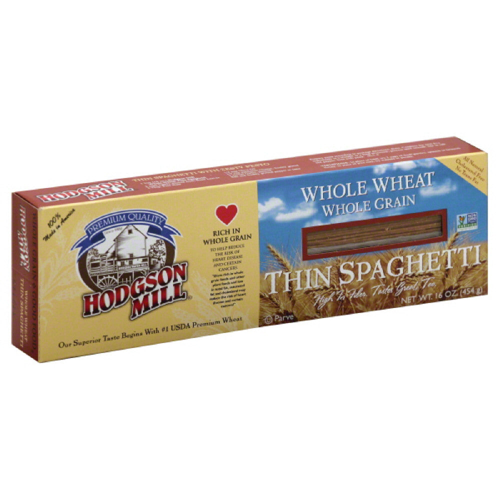 Hodgson Mill Whole Wheat Thin Spaghetti, 16 Oz (Pack of 12)