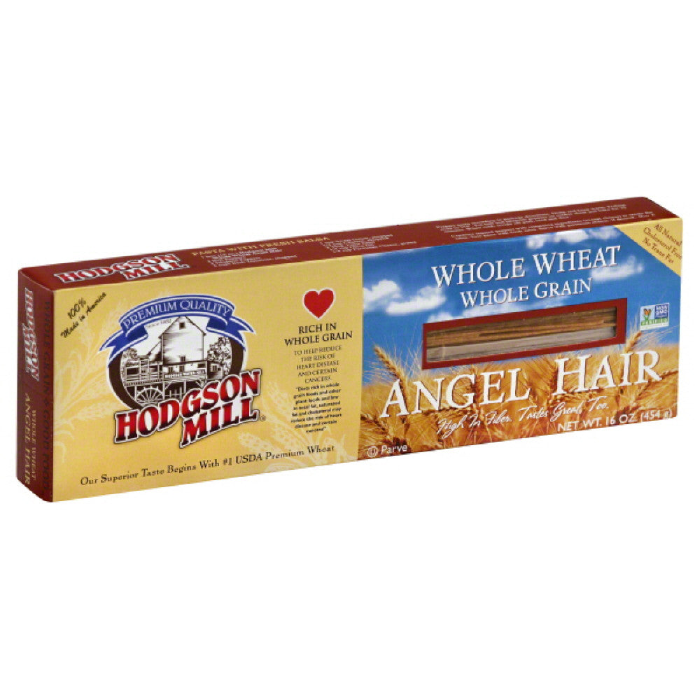 Hodgson Mill Angel Hair Whole Wheat, 16 Oz (Pack of 12)
