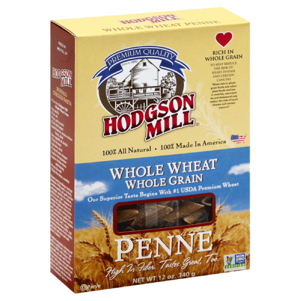 Hodgson Mill Penne Whole Wheat, 12 Oz (Pack of 12)