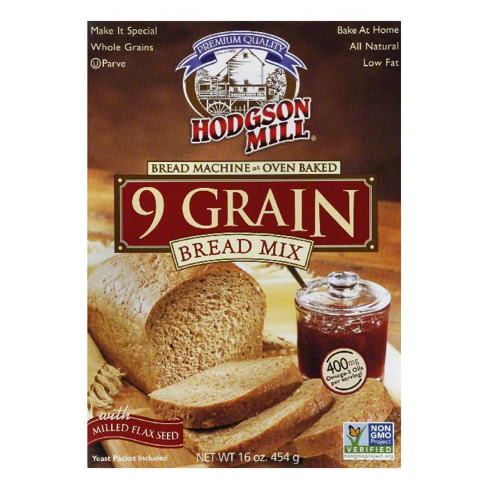 Hodgson Mill Bread Mix Nine Grain, 16 OZ (Pack of 6)