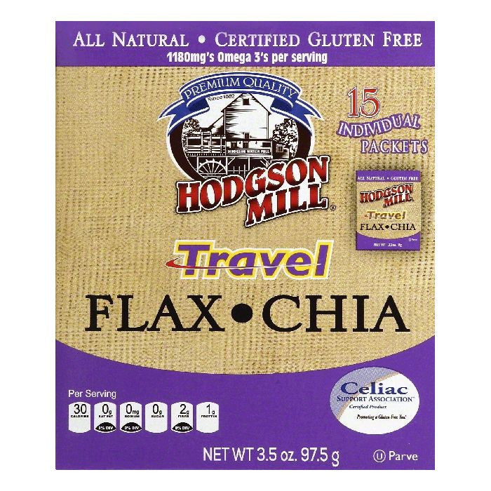 Hodgson Mill Travel Flax Chia, 15 ea (Pack of 6)