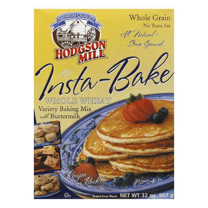 Hodgson Mill Whole Wheat Insta-Bake Mix, 32 OZ (Pack of 6)