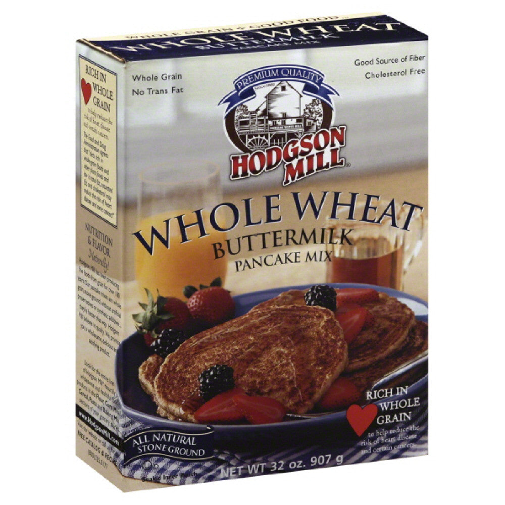 Hodgson Mill Whole Wheat Buttermilk Pancake Mix, 32 Oz (Pack of 6)
