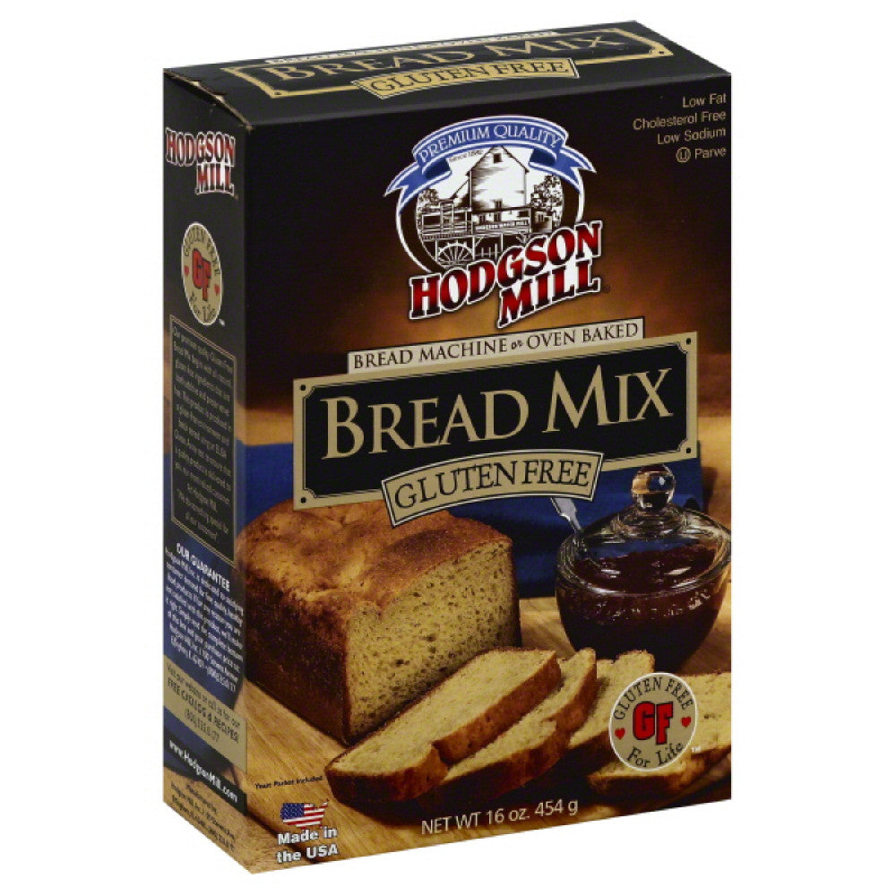 Hodgson Mill Gluten Free Bread Mix, 16 Oz (Pack of 8)