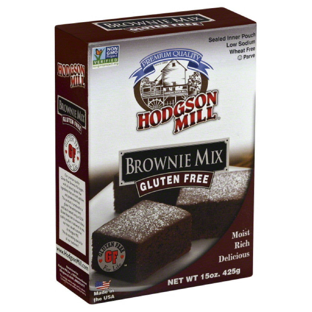 Hodgson Mill Gluten Free Brownie Mix, 15 Oz (Pack of 6)
