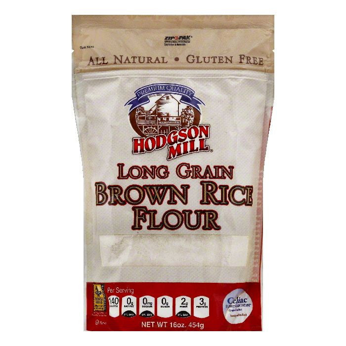 Hodgson Mill Long Grain Brown Rice Flour, 16 OZ (Pack of 6)