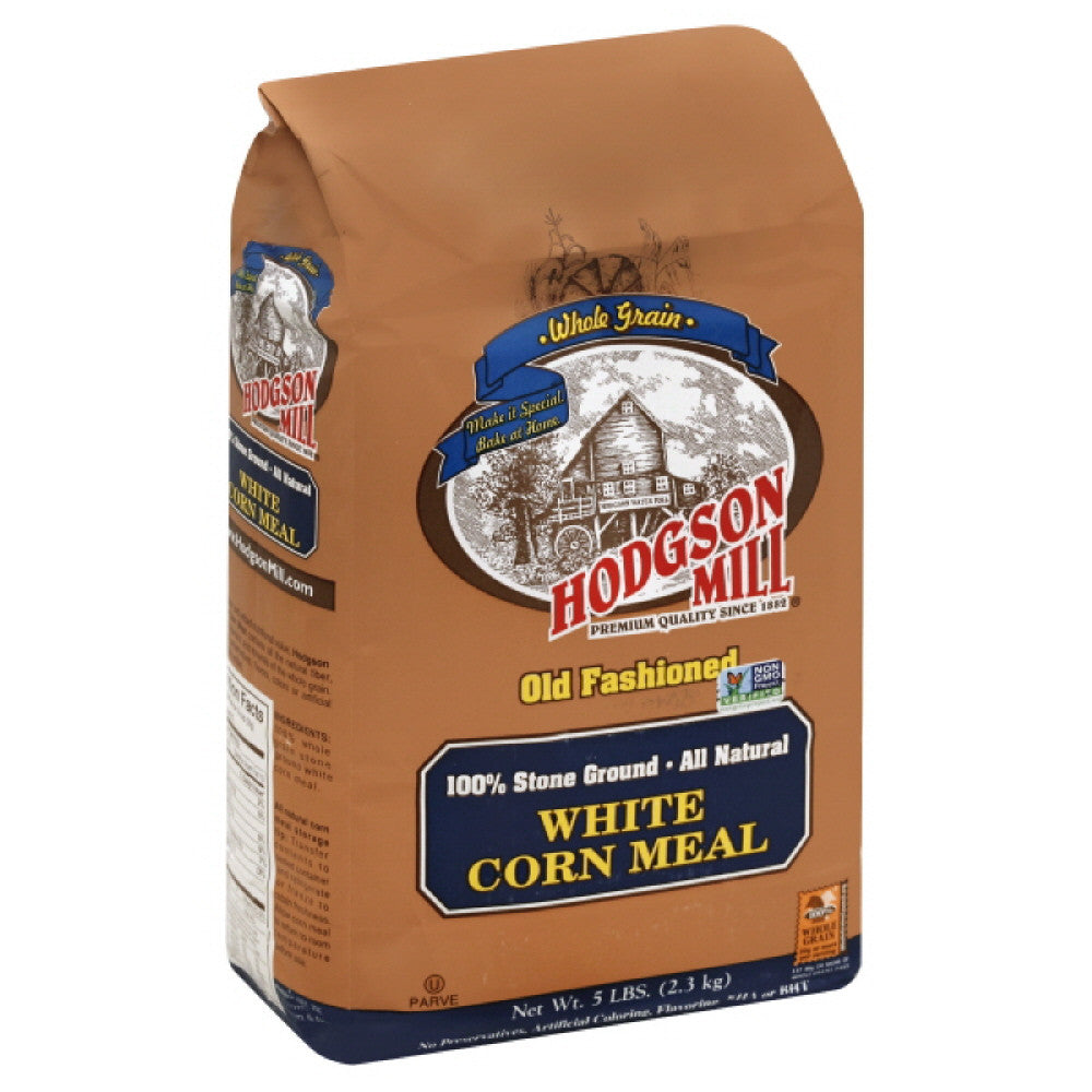 Hodgson Mill Old Fashioned White Corn Meal, 5 Lb (Pack of 6)