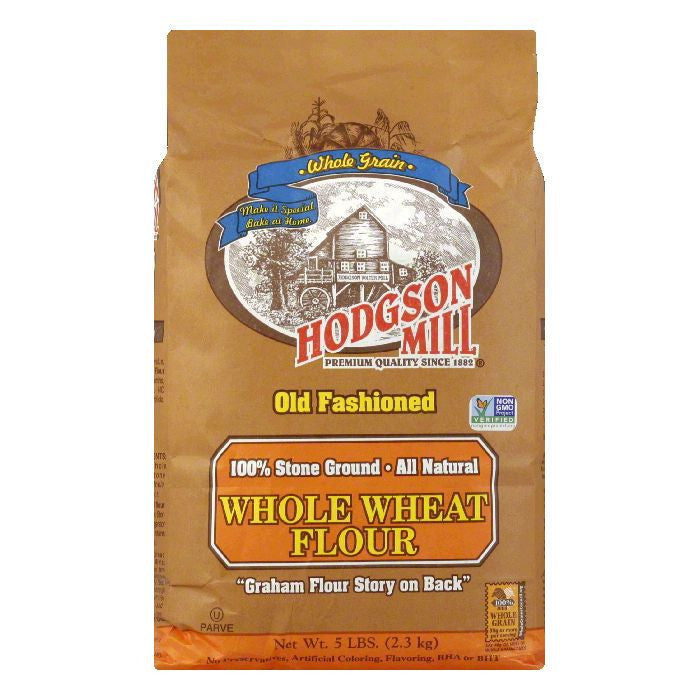 Hodgson Mill Flour Whole Wheat Graham, 5 LB (Pack of 6)