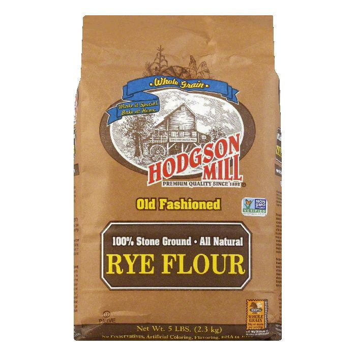 Hodgson Mill Flour Rye, 5 LB (Pack of 6)