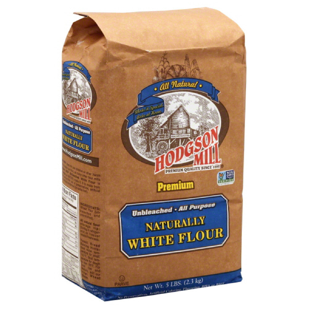 Hodgson Mill Unbleached All Purpose Naturally White Flour, 5 Lb (Pack of 6)