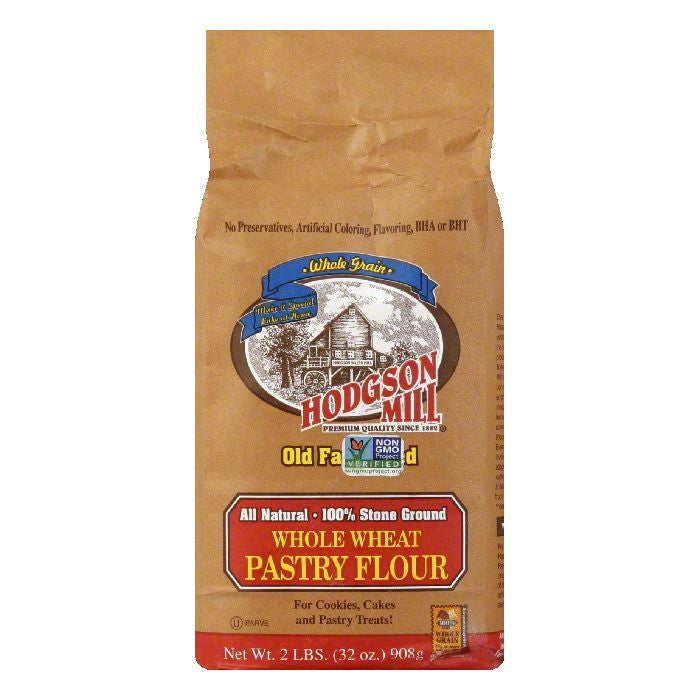 Hodgson Mill Hodgsen Flour Milled Whole What Pastry, 2 LB (Pack of 6)
