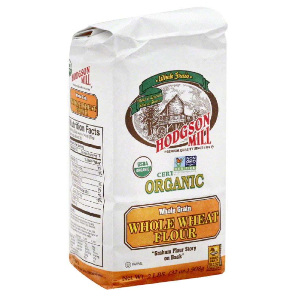 Hodgson Mill Flour Whole Wheat, 32 Oz (Pack of 6)