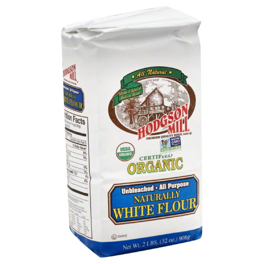 Hodgson Mill Organic All Purpose Naturally White Flour, 32 Oz (Pack of 6)