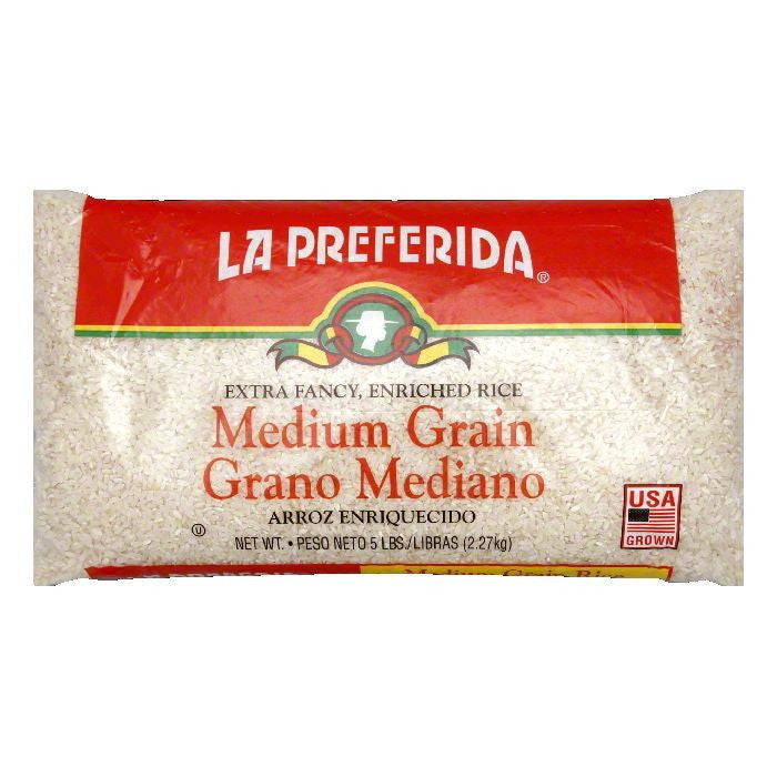 La Preferida Rice Medium Grain, 5 LB (Pack of 6)