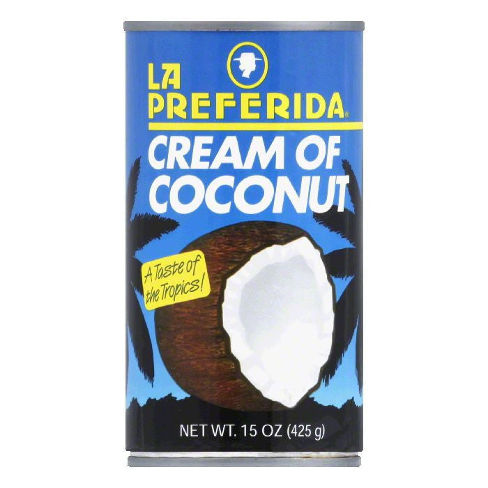 La Preferida Drink Mix Cream of Coconut, 15 OZ (Pack of 12)