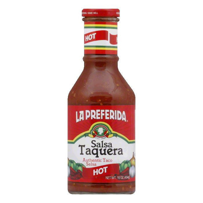 La Preferida Salsa Taquera Hot, 16.4 OZ (Pack of 12)