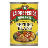 La Preferida Beans Refried Organic, 15 OZ (Pack of 12)