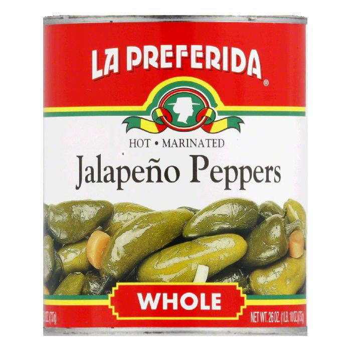 La Preferida Peppers Jalapeno, 26 OZ (Pack of 12)