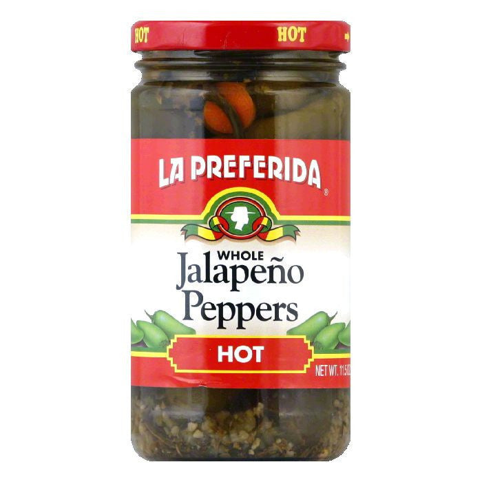 La Preferida Chiles Jalapenos Whole Hot, 11.5 OZ (Pack of 12)